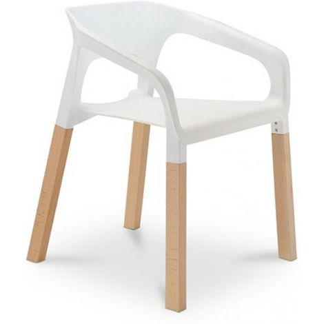 Chaise POP scandinave Blanc