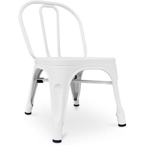Chaise pour enfant de style Tolix - Métal Rouge