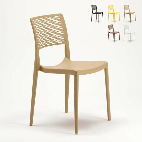 Chaise pour salle à manger Bar et Jardin en Polypropylène Empilable et Légère CROSS