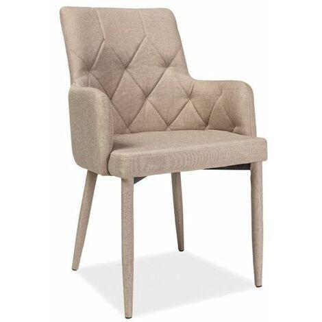 Chaise - Ricardo - L 50 cm x l 44 cm x H 88 cm - Beige - Livraison gratuite