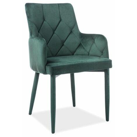 Chaise - Ricardo - L 50 cm x l 44 cm x H 88 cm - Vert - Livraison gratuite