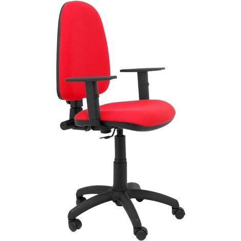 Chaise rouge Ayna bali à accoudoirs réglables
