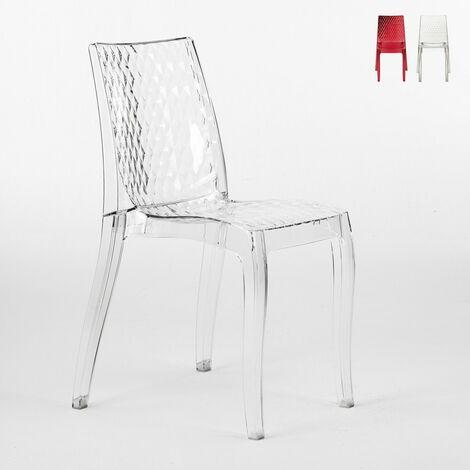 Chaise salle à manger bar en polycarbonate transparent empilable bar café HYPNOTIC Grand Soleil