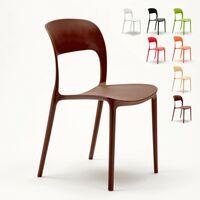 Chaise salle à manger bar restaurant en polypropylène coloré design RESTAURANT