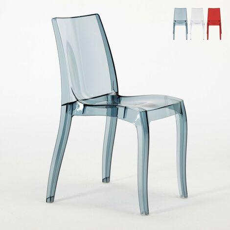 Chaise salle à manger bar transparent empilable CRISTAL LIGHT polycarbonate Grand Soleil Design