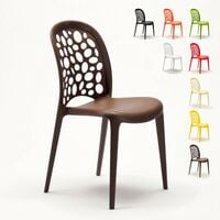 Chaise salle à manger café bar restaurant jardin polypropylène empilable Design WEDDING HOLES MESSINA