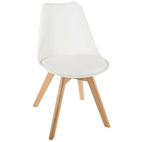Chaise scandinave Baya - Blanc