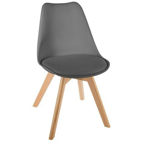 Chaise scandinave Baya - Gris