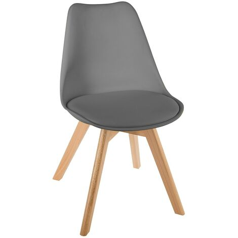 Chaise scandinave Baya - Gris foncé