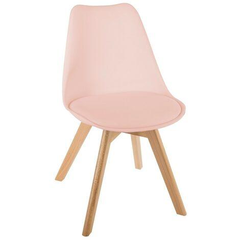Chaise scandinave Baya - Rose
