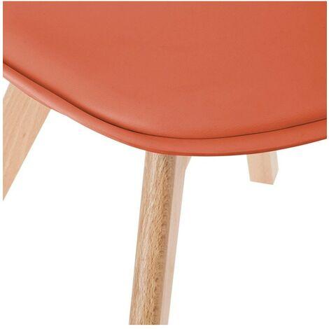 Chaise scandinave Baya - Rouge