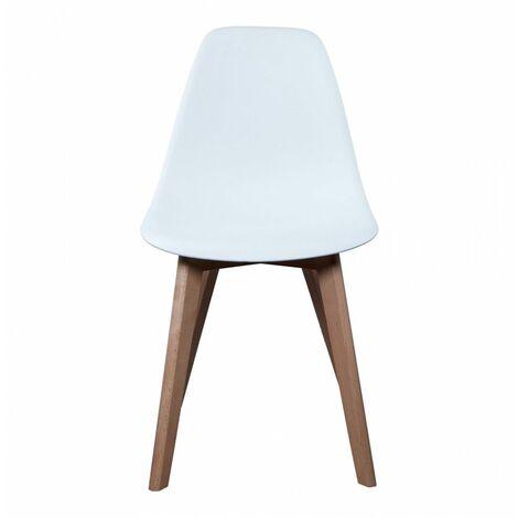 Chaise scandinave - Blanc - Livraison gratuite
