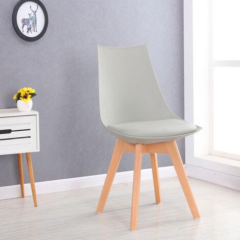 Chaise scandinave blanche - Prague - Designetsamaison - Blanc
