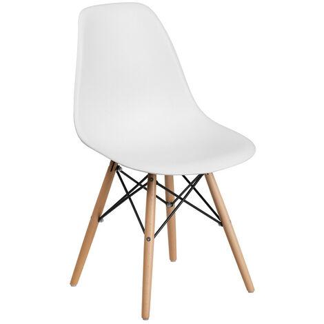 Chaise Scandinave Blanche Style Eiffel - Salle à Manger, Cuisine