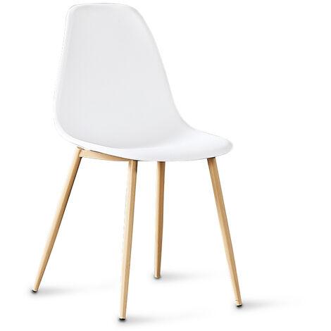 Chaise scandinave blanches - Ela - Designetsamaison - Blanc