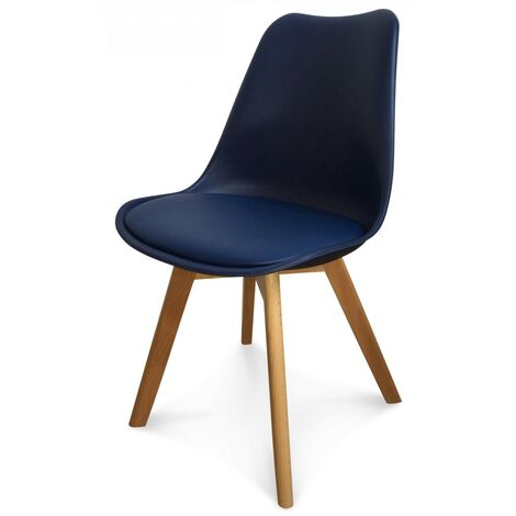 "main image of ""Chaise scandinave bleu marine Keny - Lot de 2"""