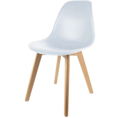 Chaise scandinave coque - Blanc