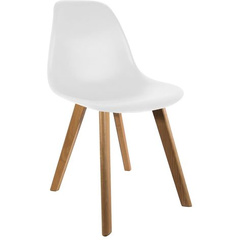 Chaise scandinave coque BLANCHE Home Deco Factory