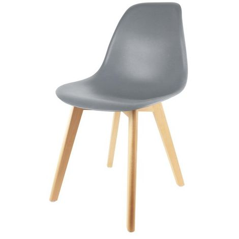 Chaise Scandinave Coque Grise Home Deco Factory