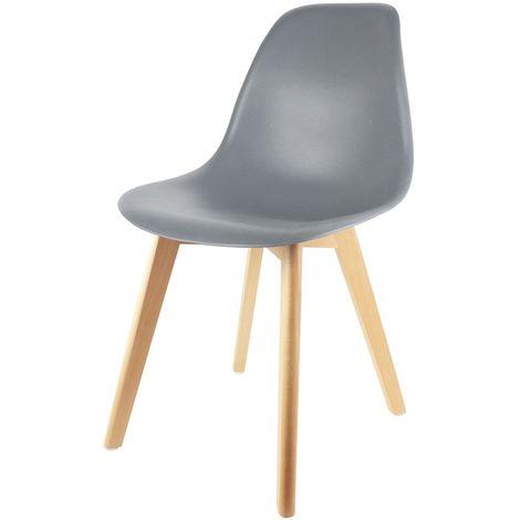 Chaise scandinave Coque - H. 83 cm - Gris