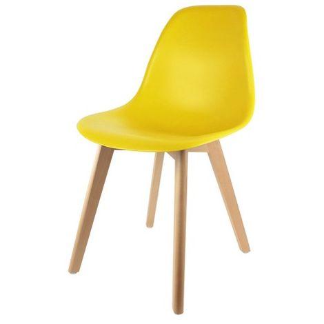 Chaise scandinave coque Jaune
