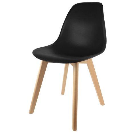Chaise scandinave coque Noire