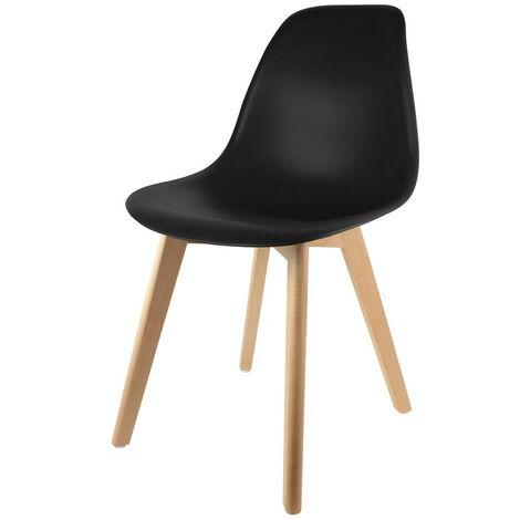 Chaise scandinave coque noire - Noir