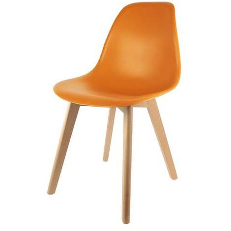 Chaise scandinave coque Orange