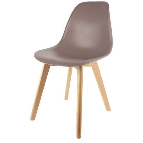 Chaise Scandinave Coque Taupe Home Deco Factory