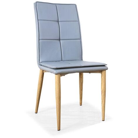 Chaise scandinave grise - Pietro - Designetsamaison - Gris