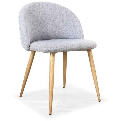 Chaise scandinave grise - Rossi - Designetsamaison - Gris