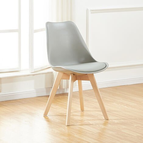Chaise scandinave grises - Bjorn - Designetsamaison - Gris