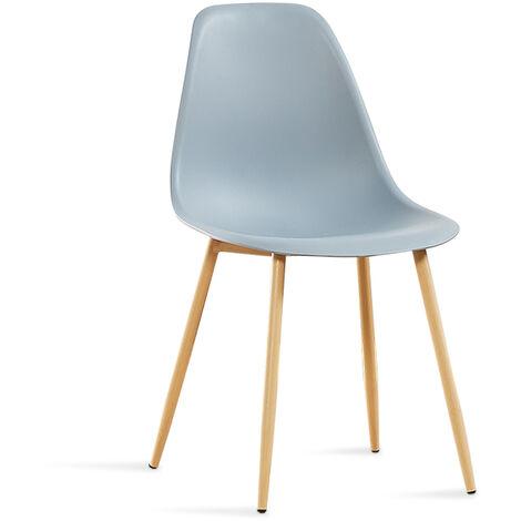 Chaise scandinave grises - Ela - Designetsamaison - Gris