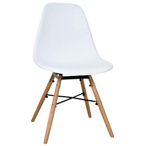 Chaise scandinave Morry blanc - Blanc