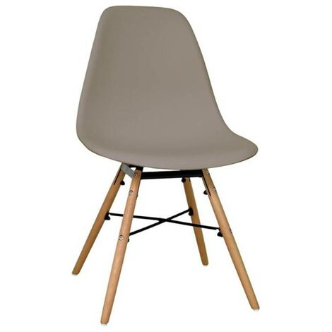Chaise scandinave Morry taupe - Gris