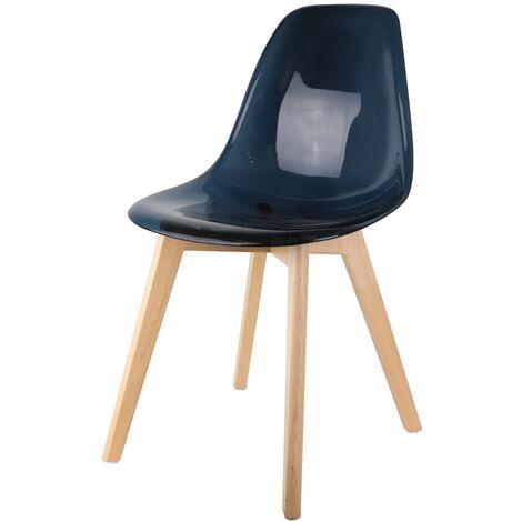 Chaise scandinave noire fumée