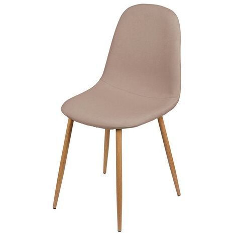 Chaise scandinave Oslo en tissu taupe - Taupe
