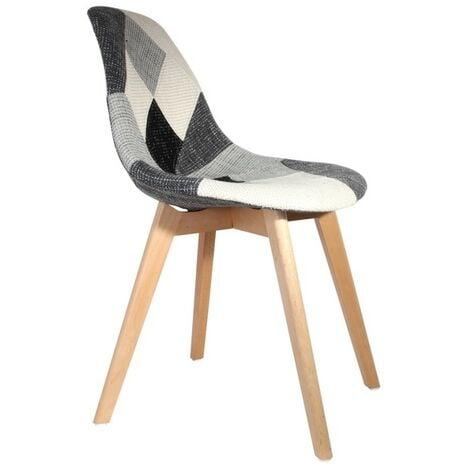 Chaise scandinave Patchwork gris - Gris