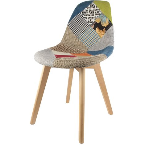 Chaise scandinave Patchwork - Multicolore