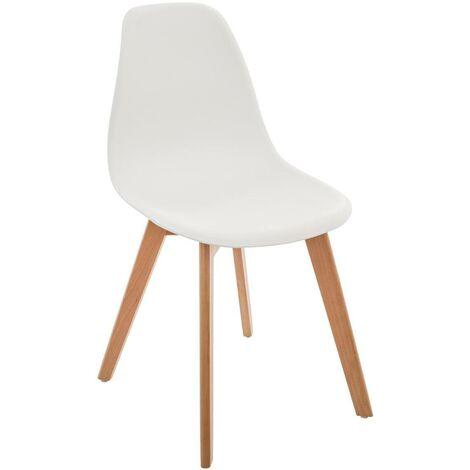 Chaise scandinave pour enfant blanc - Blanc
