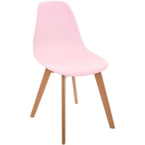 Chaise scandinave pour enfant rose