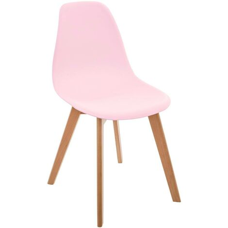 Chaise scandinave pour enfant rose - Rose