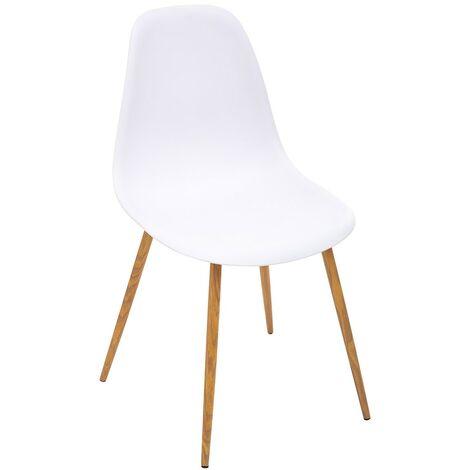 Chaise scandinave Taho blanc - Blanc