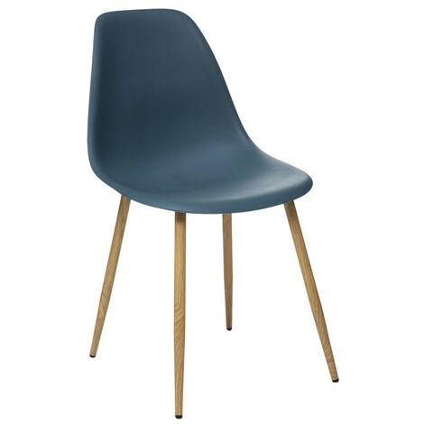 Chaise scandinave Taho navy - Bleu