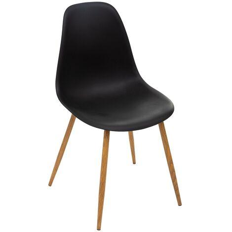 Chaise scandinave Taho noir - Noir