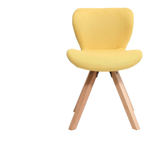 Chaise scandinave tissu bois ANYA