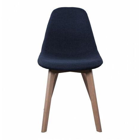 Chaise scandinave - Tissu - Noir - Livraison gratuite