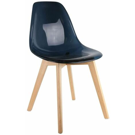 Chaise scandinave transparente noir - Noir
