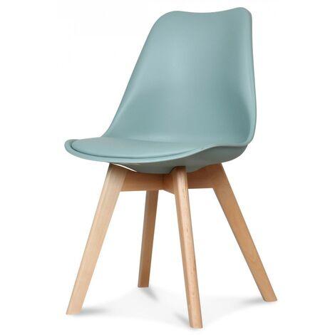 "main image of ""Chaise scandinave vert clair Keny - Lot de 2"""