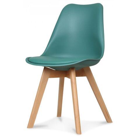 """main image of """"Chaise scandinave vert émeraude Keny - Lot de 2"""""""
